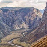 вид на долину Чулышмана с перевала Кату - Ярык :: Галина Шепелева