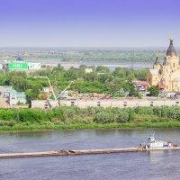Стрелка, где сливаются Волга и Ока :: Анатолий