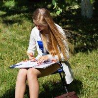 Юная художница :: Алексей Golovchenko
