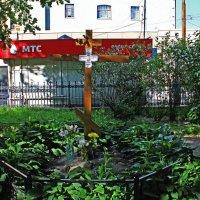 Памятный Крест в Введенском Саду. :: Александр Лейкум