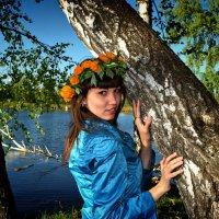 Девушка у озера. :: Сибирь Эвенкия Евгений Щербаков