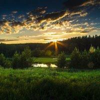 закат в деревне 2 :: Андрей Афонасьев