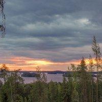 Закат в оранжевых тонах :: Борис Смирин