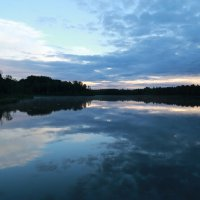 Закат на озере. :: Янгиров Амир Вараевич