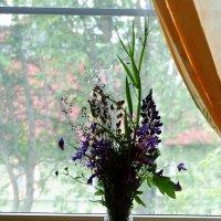 Букетик у окна. Ожидает. :: Владимир Гилясев