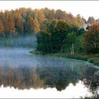 Туман над озером. :: Екатерина Артамонова