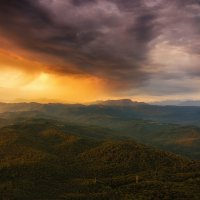 Закат с горы Ахун :: Илья Бунин