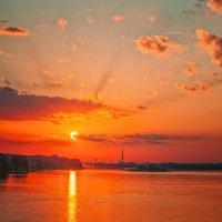 Закат над Ригой. :: Lidija Abeltinja