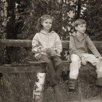 На скамейке. :: Евгеша Сафронова