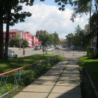 перекрёсток в центре города Партизанска :: Анатолий Кузьмич Корнилов