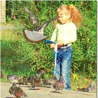 Ох, уж эти голуби... :: Анна Елтышева