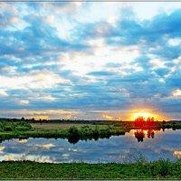 закат в облаках :: Сергей Швечков