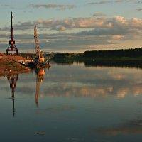 Закат на берегу реки Белой :: Olenka
