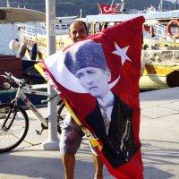 человек и флаг :: Дмитрий Ланковский