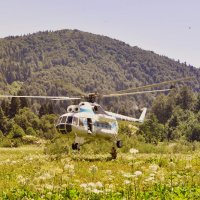 ...посадка вертолёта... :: Ольга Нарышкова
