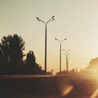 встретить закат в дороге... :: Юлия Абжалимова