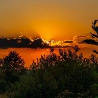 Закат над Шумилином. 5 августа 2014. 02. :: Анатолий Клепешнёв
