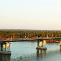 Летный вечер...Барнаульский мост..... :: Nadezhda Ulitina