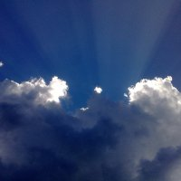 Солнце за облаками. :: Сергей Тупало