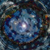 Вид восхода Луны с крылатских холмов (обработка) :: Николай
