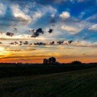Закат над Шумилином. 13.08.2014. :: Анатолий Клепешнёв