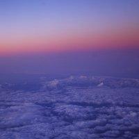 Между небом и землей. Рассвет над Альпами. :: Светлана marokkanka