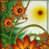 Солнышко и цветы :: Есения