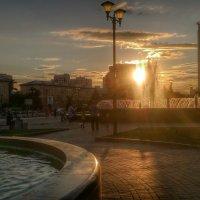Новосибирск.Фонтаны.Вечер. :: Марина Матвеева