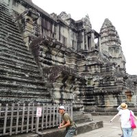 Храм Ангкор Ват. Лестница :: Сергей Карцев