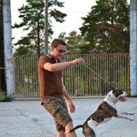 Степа и его собака лера :: Nato Oniani