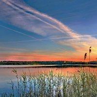 Закат на Ферапонтовом озере :: Валерий Талашов