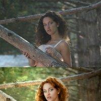 летний портрет на природе (до и после) :: Veronika G