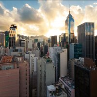 Небо над Гонконгом. :: Георгий Ланчевский