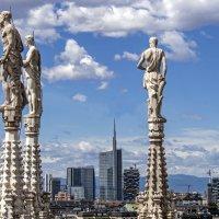 Миланский пейзаж. Вид на небоскрёбы с крыши Собора :: Виталий Авакян