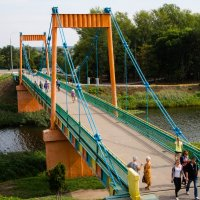 Подвесной мост через канал Цны в Тамбове :: Виктор