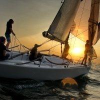 закат, яхта и девушки) :: Ingwar