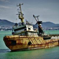 Старый корабль, проба эффекта... :: Андрей Печерский