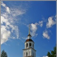 колокольня, Колоцкий монастырь :: Дмитрий Анцыферов