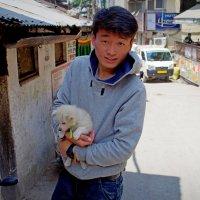 Лица Индии.Юноша с собачкой. :: Михаил Рогожин