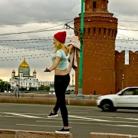 Храм Христа Спасителя покорила, остался Кремль... :: Ирина Шарапова