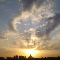 Закат в Астане :: Рустем Жансеитов