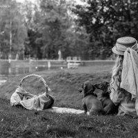 Катарина и два рыжих носатика... :: Екатерина Козаченко