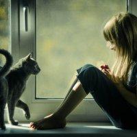 Девочка и ее друг) :: Oxana Schneider