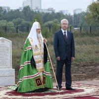 Освящение начала строительства Храма Святого Владимира в Тушино. :: Николай