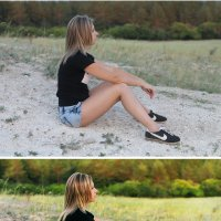 девушка и осень (до и после) :: Veronika G