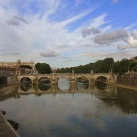 Рим, мост Святого Ангела :: Елена Гуляева (mashagulena)