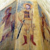 Фрески на стенах церкви Успения ( 17 век) в цитадели Ананури. :: Игорь