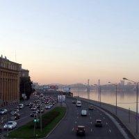 Малоохтинский проспект. Светает :: Владимир Гилясев