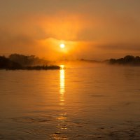 Золотой рассвет над рекой Нерча! :: Сергей Сол