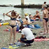 На пляже. :: Владимир Болдырев